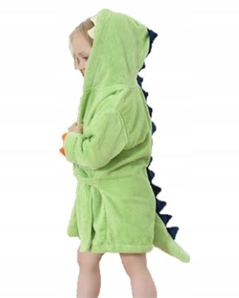 Szlafrok dziecięcy SMOK zielony DINO 92 (D040)