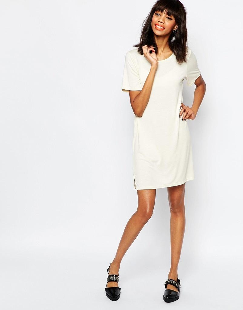 MONKI sukienka mini t-shirt oversize 38 M