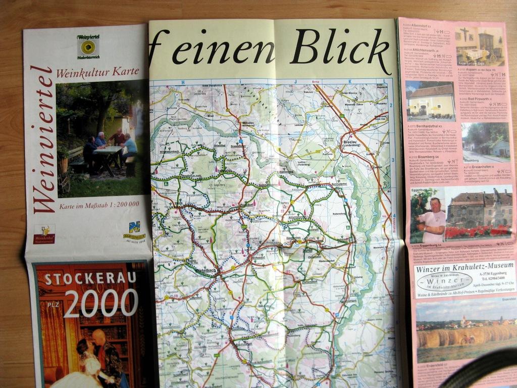 plan mapa turystyczna Austria Weinvertel 1998