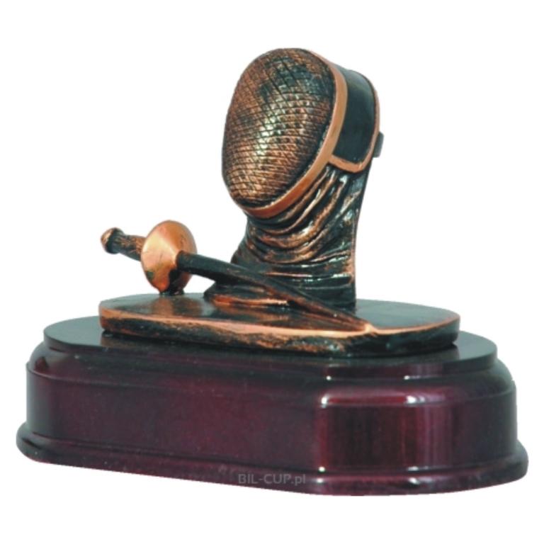 Statuetka szermierka z dedykacją