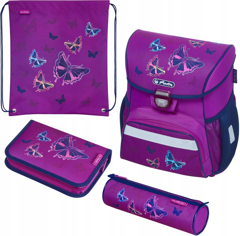 TORNISTER HERLITZ LOOP PLUS GLITTER BUTTERFLY 4w1