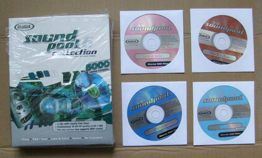 Sound Pool 4xCD - 4500 profesjonalnych sampli WAV