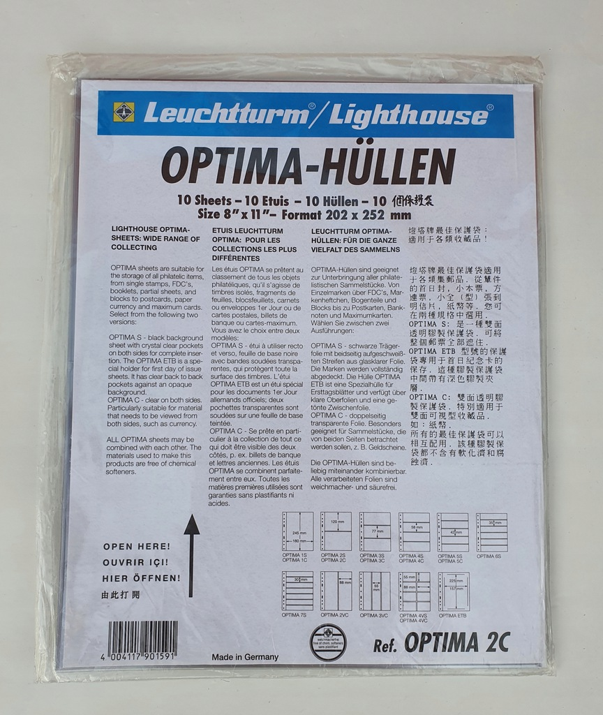 Leuchtturm - Strony, karty Optima 2C (dwustronna)