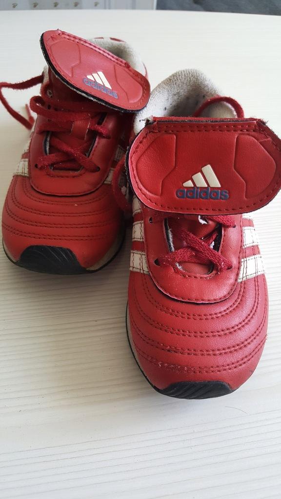 adidas skóra UK 9,5 27 czerwono-białe o 1 zł