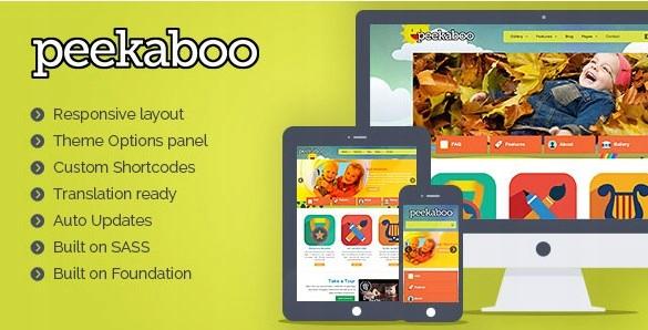 Szablon Themeforest Pekaboo Children WordPress WP
