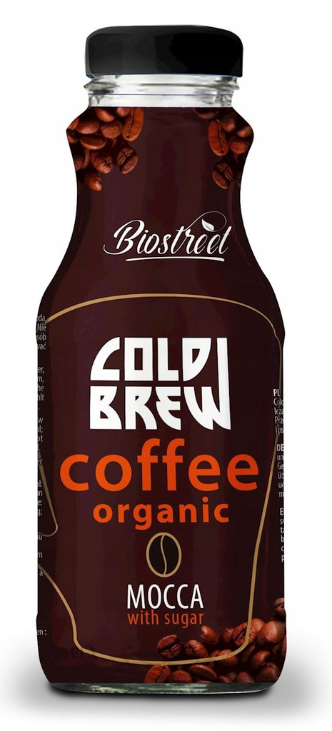 Kawa parzona na zimno cold brew mocca z cukrem BIO