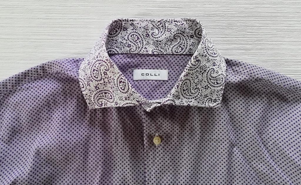 Biało-fioletowa koszula XL /42