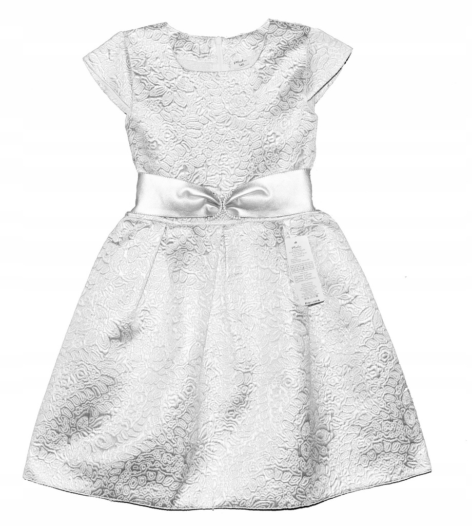 Elegancka srebrna sukienka roz 134 wesele