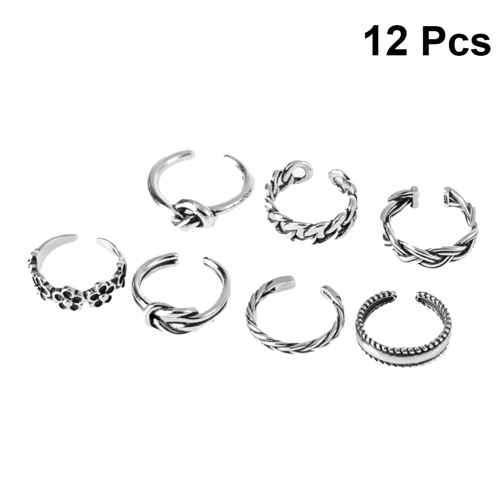 7 szt. Unisex Foot Rings Trendy Moda Folk-custom