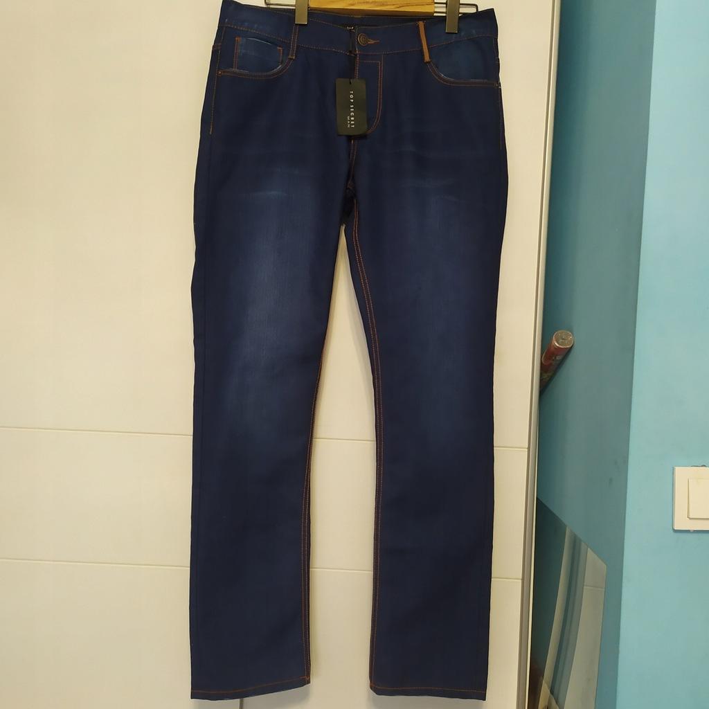 top secret rewelacyjne spodnie jeansowe rurki 34