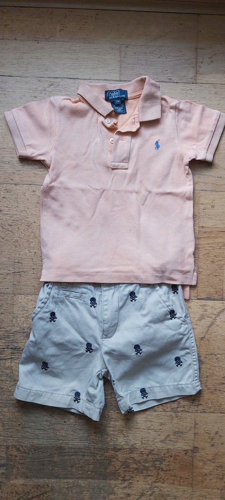Polo By Ralph Lauren 12m + spodenki Place 18-24m