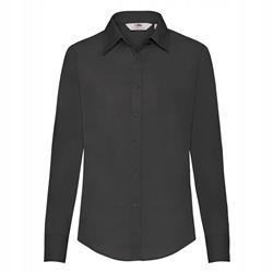 DAMSKA koszula POPLIN LONG FRUIT czarny 3XL