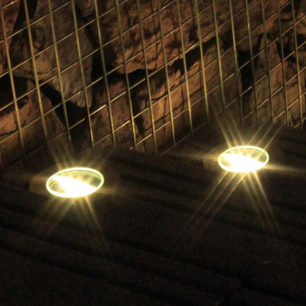 Solar Ground Lights Waterproof 3 LED Landscape Pat