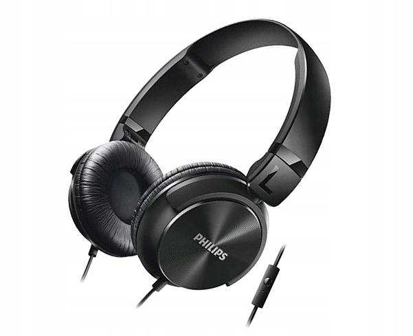 Słuchawki z Mikrofonem Philips SHL3065BK Czarne DJ
