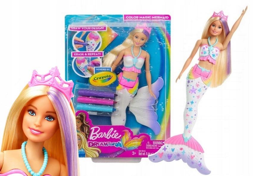 Lalka Barbie Syrenka Kolorowa Magia Gcg67 7802838465 Oficjalne Archiwum Allegro