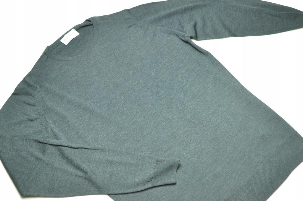ATT sweter stalowy John Smedley merino rozmiar M