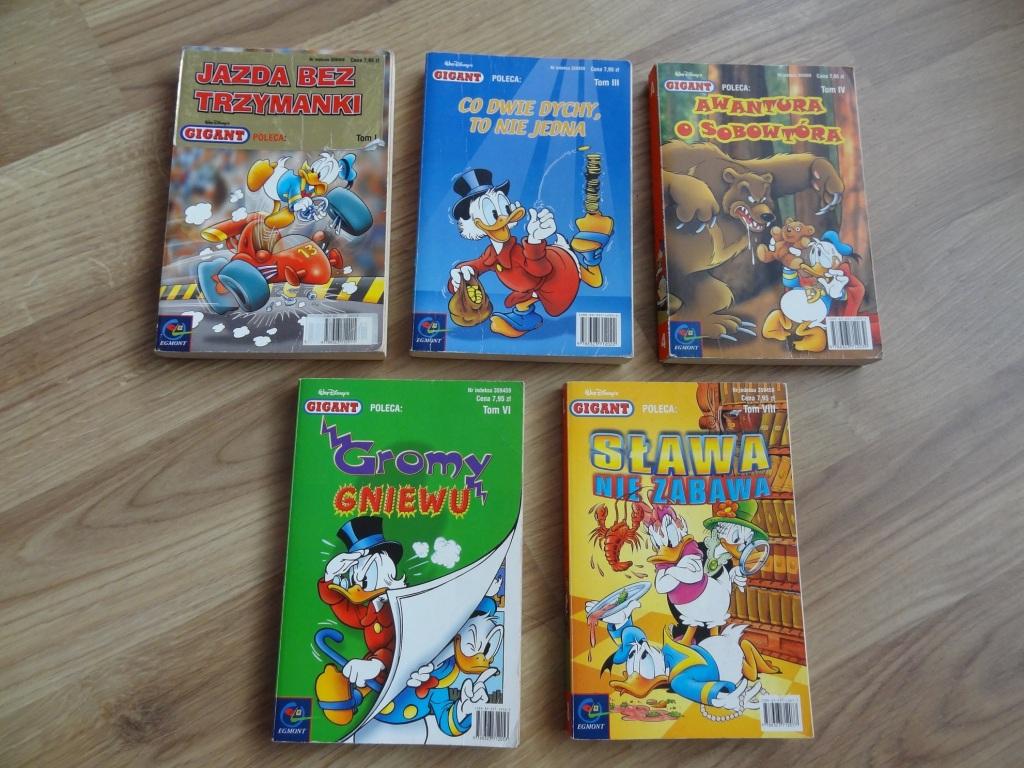 Komiks Gigant Kaczor Donald nr I,III,IV,VI,VIII