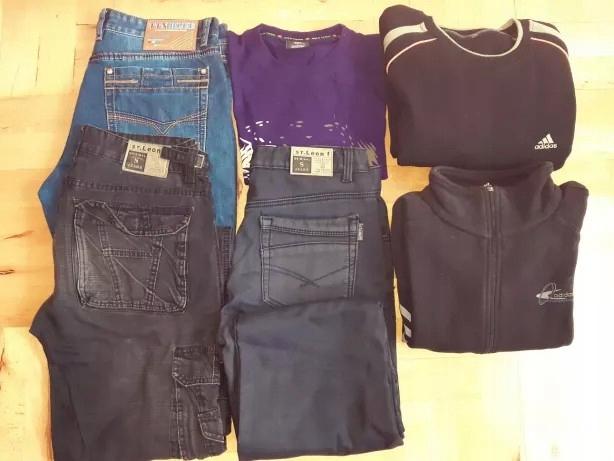Paczka męskich ubrań 40 L Adidas Cropp nowe jeansy