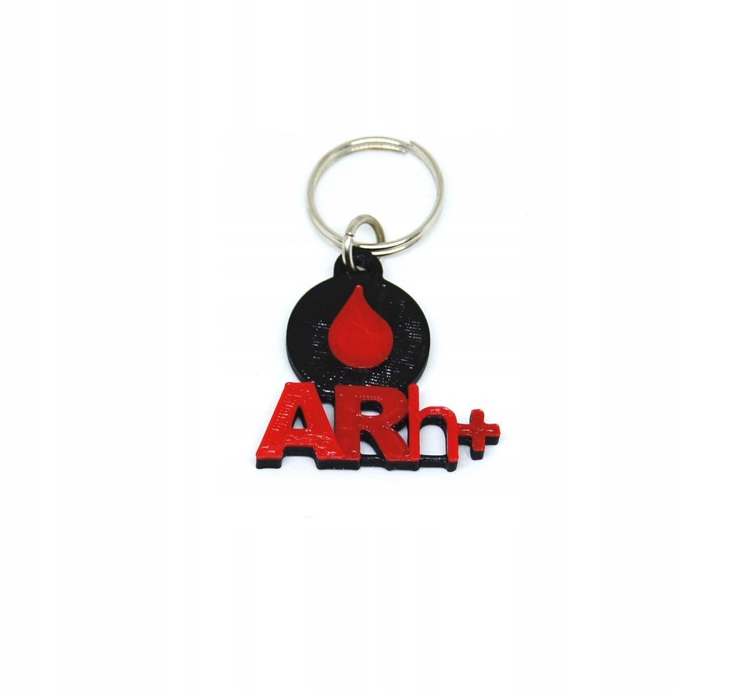 Brelok GRUPA KRWI ARh+ zawieszka breloczek krew