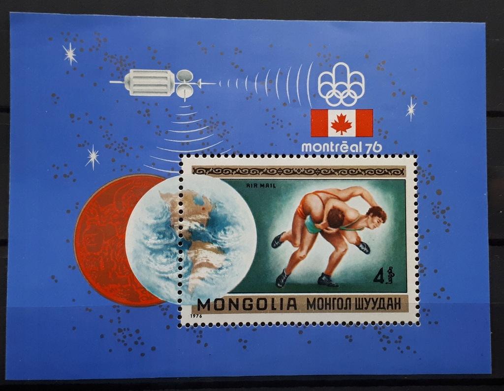 Mongolia Mi: MN BL44 Olimpiada Montreal 1976 r.
