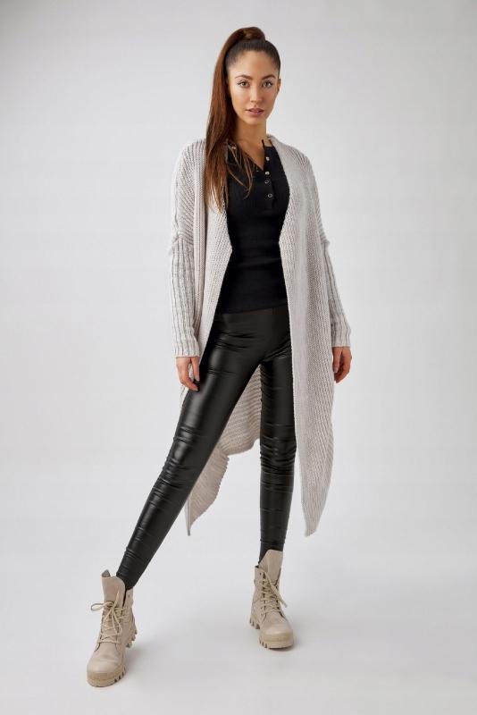 długi sweter ze zwężanymi rękawami Czarny U