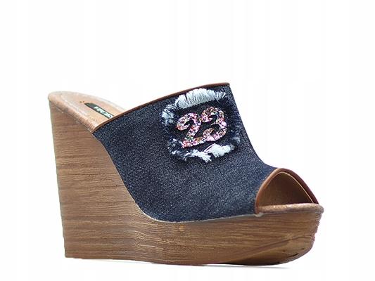 Klapki Vices 4093-1 Czarne Jeans_39 Arturo-obuwie
