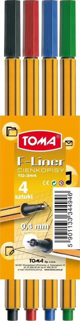 Cienkopis Toma F-Liner TO-344 4kol.