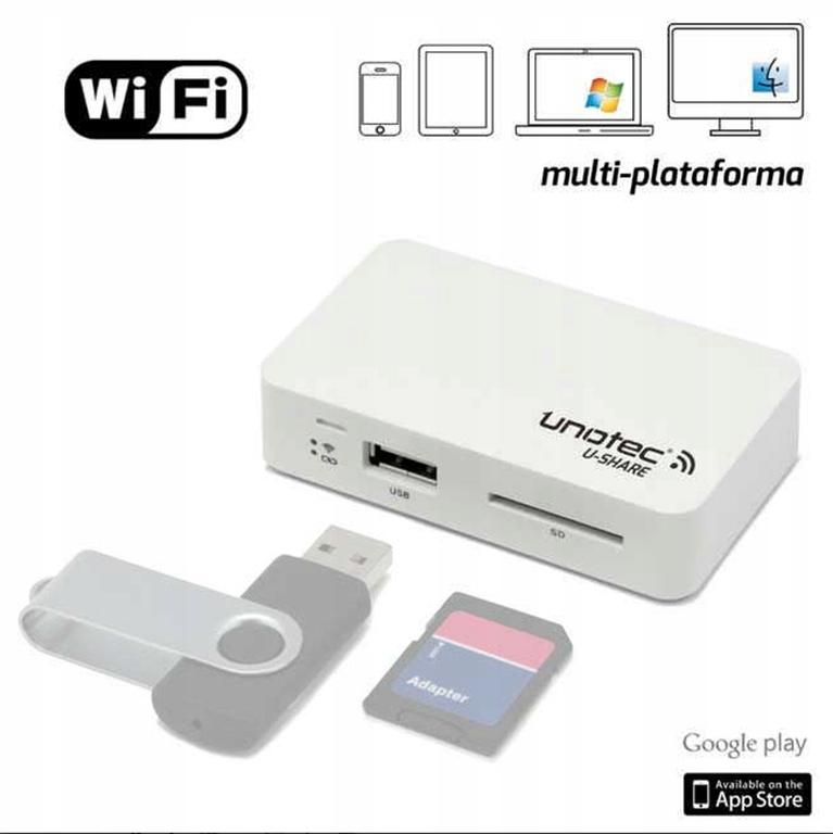 Unotec U-Share WiFi Czytnik kart pamięci USB SD SS