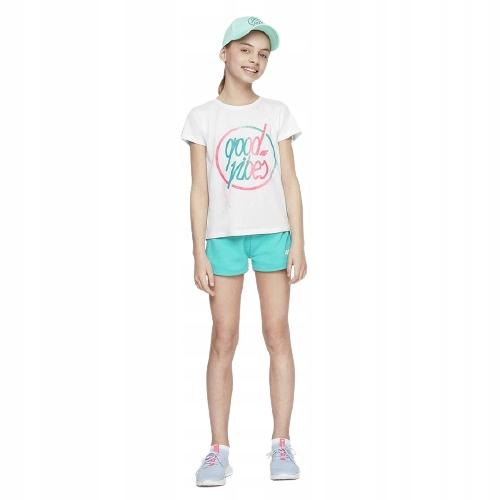 T-shirt koszulka dziewczęca 4F biała 146 cm