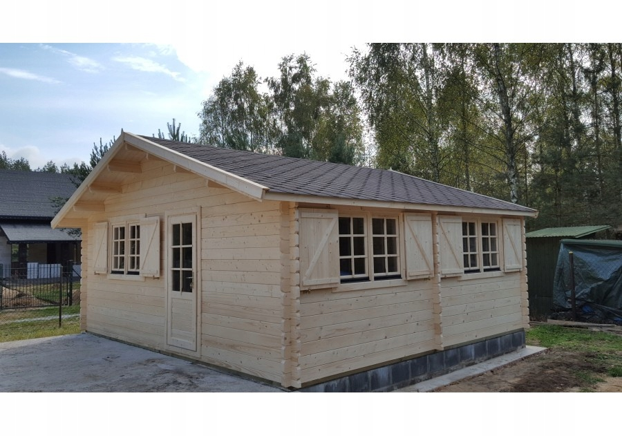 Domek letniskowy drewniany z balika, 6.0x5.5m 44mm