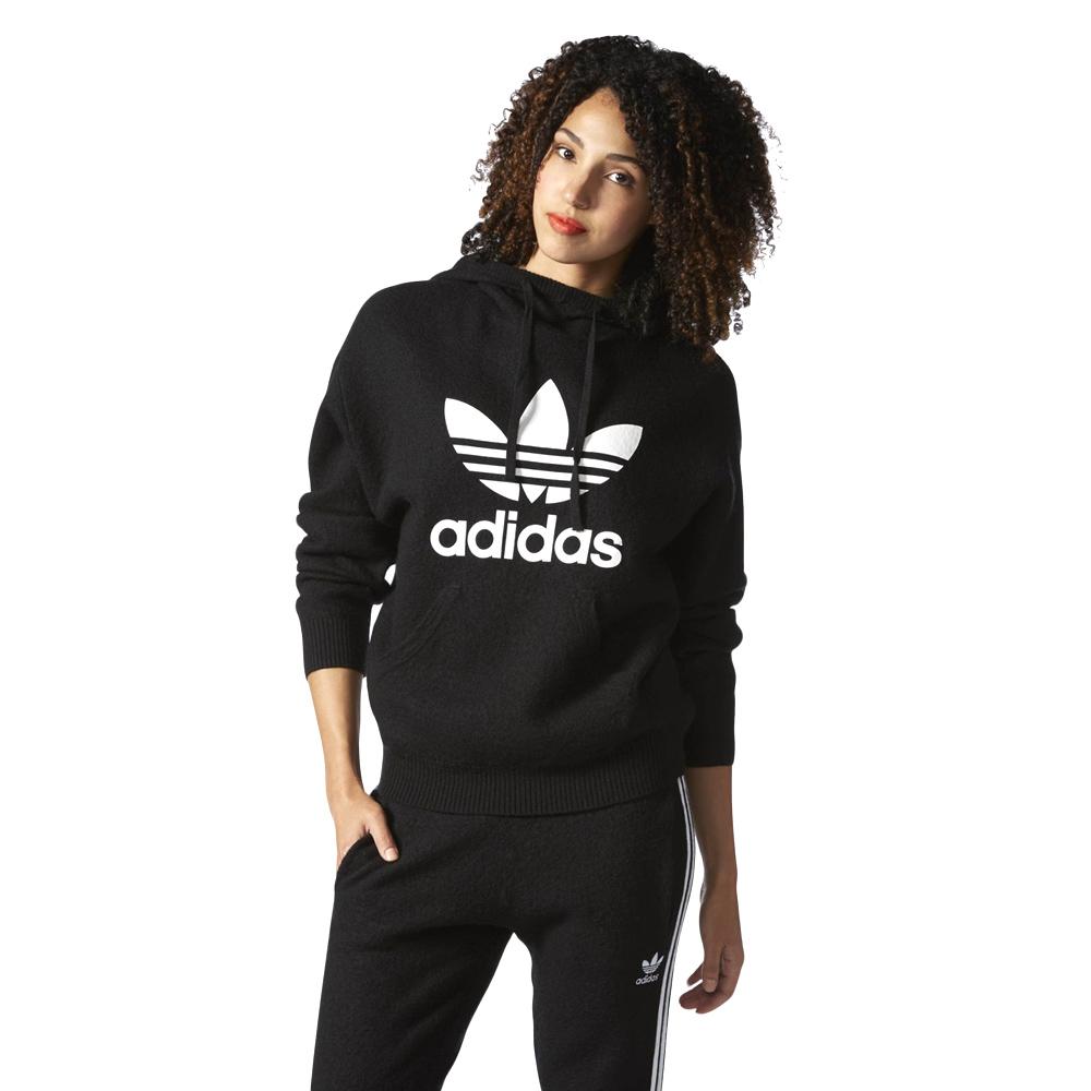 adidas czarna bluza z kapturem damska