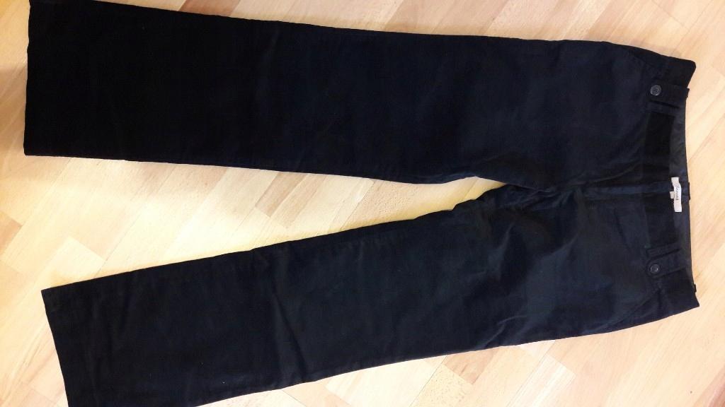 czarne pluszowe spodnie Reserved rozm. 42