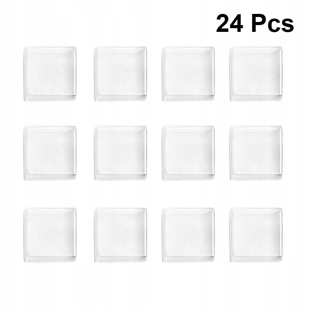 24szt Magnes na domowe biura Białe szkło mozaiki N