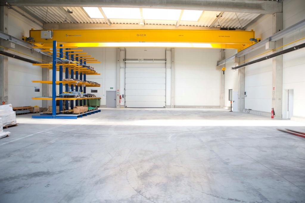 Hala do 5700 m/kw, suwnice 25 ton