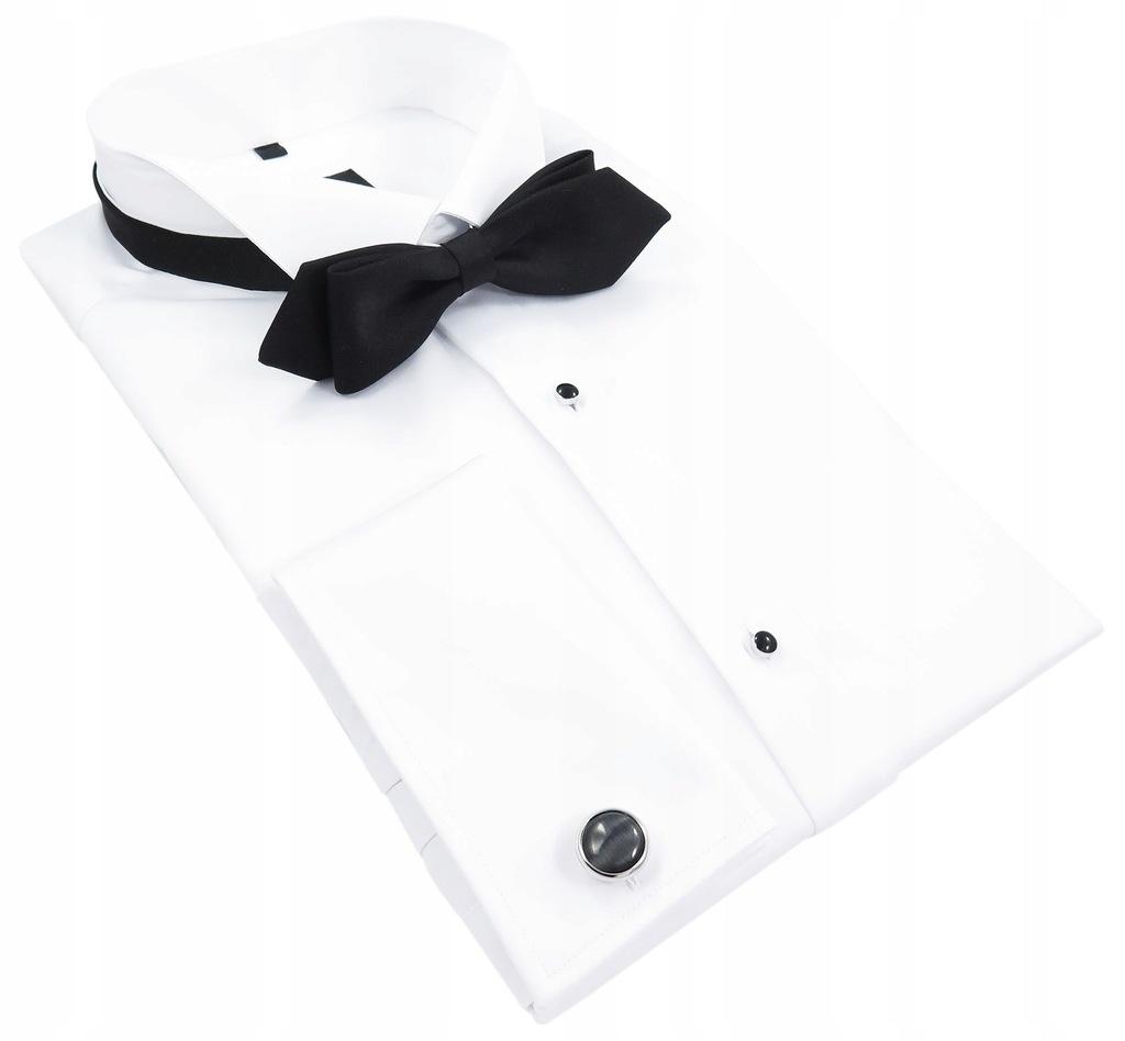 Biała koszula smokingowa 164-170 41-SLIM FIT 091