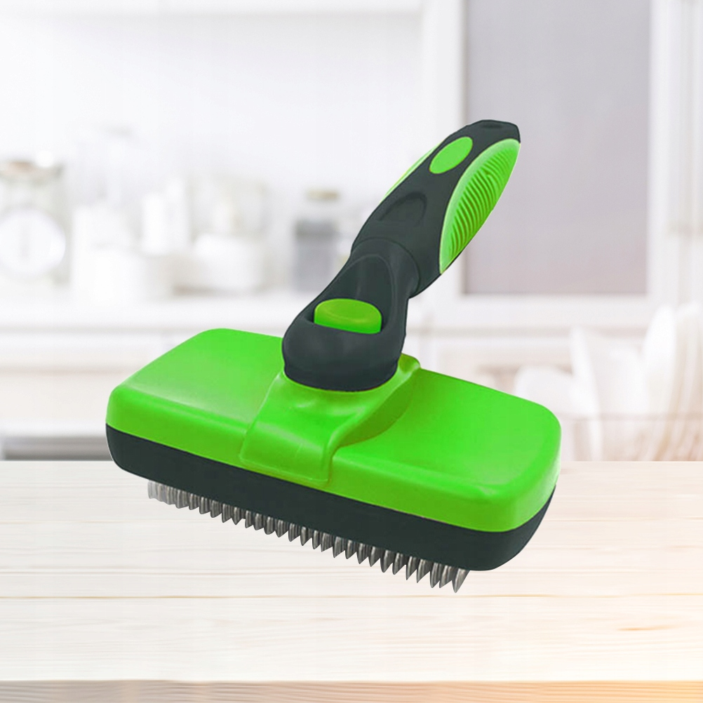 19x6.2cm Pet Massage Brush Cat Hair Grooming Scrub