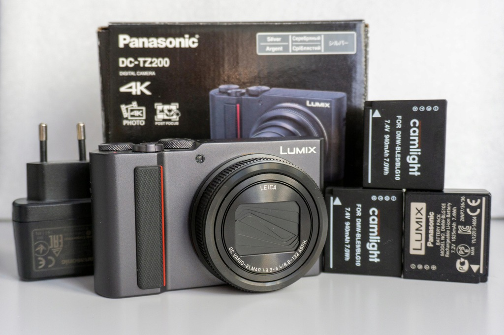 Panasonic Lumix DC-TZ200 srebrny