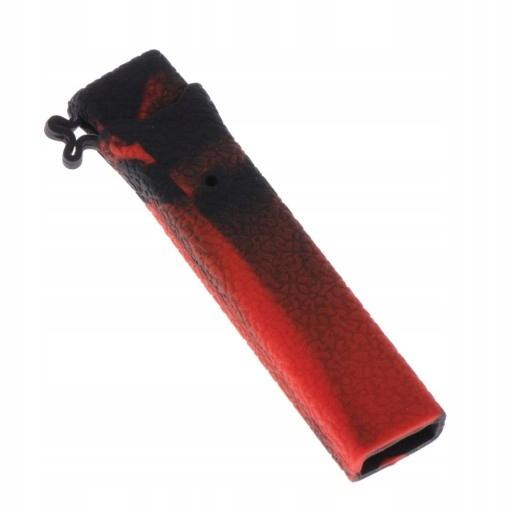 silikonowe etui na e-papierosy - Czarny czerwony
