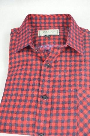 Koszule flanelowe 41/42 czerwona w czarną kratę.