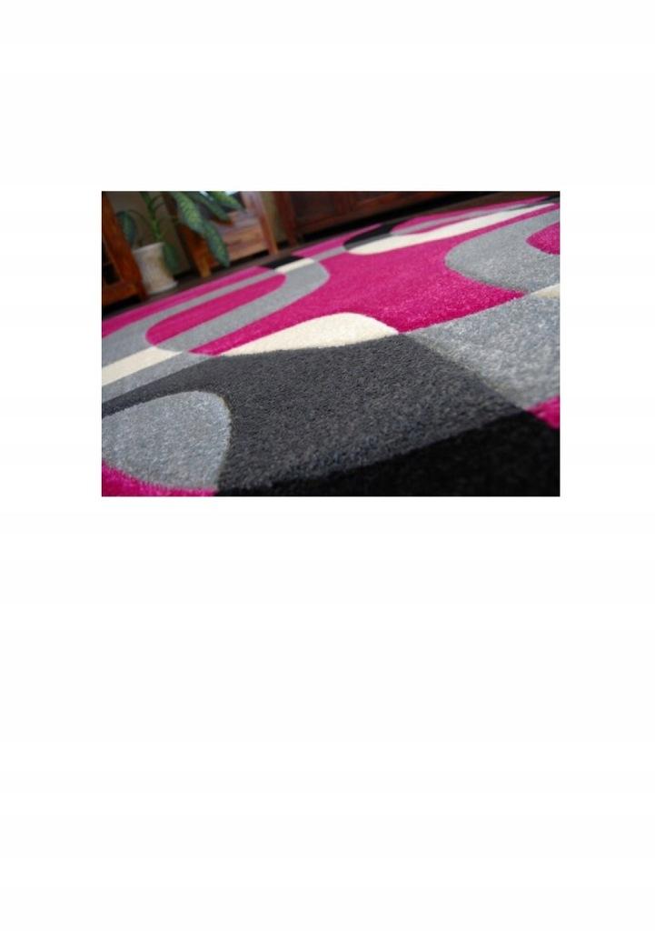 Dywan PILLY H203 8405 fuksjaczarny Dywany nowoczesne