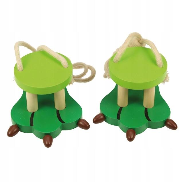 BigJigs Szczudła Stopa krokodyla zabawki drewniane