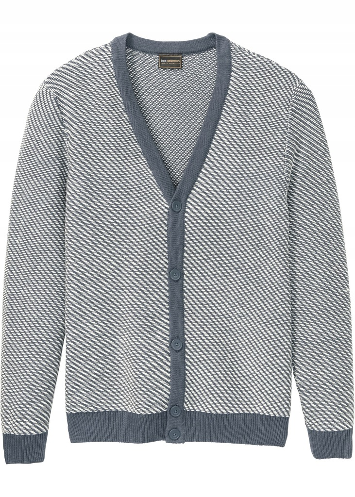 BONPRIX Sweter rozpinany Regular-Fit r.64/66 (3XL)