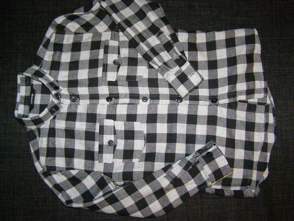 koszula w kratkę r. 116 122