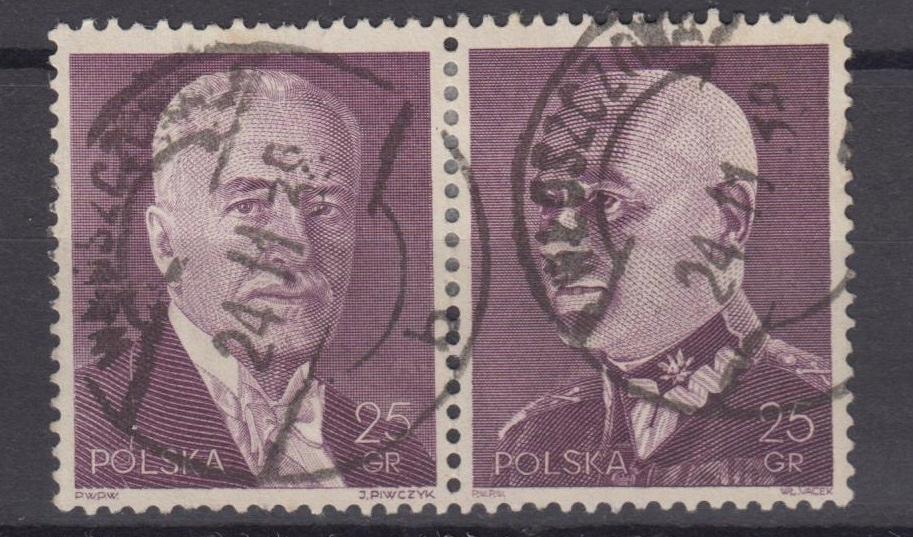 1938r. Fi. 325 - 326 znaczki z bloku 7