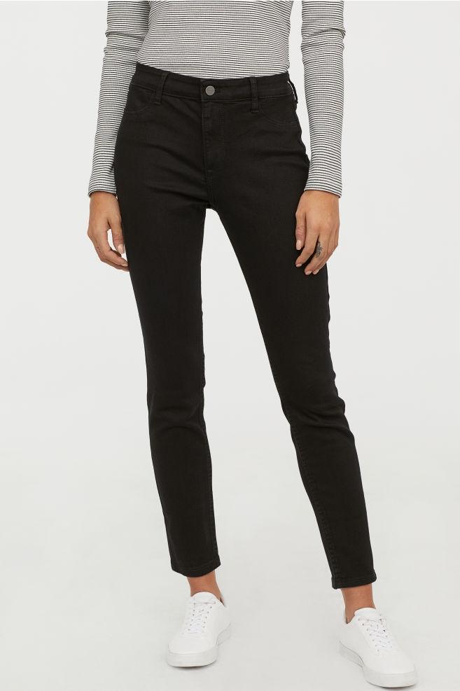 spodnie skinny ankle H&M 28 165 B104