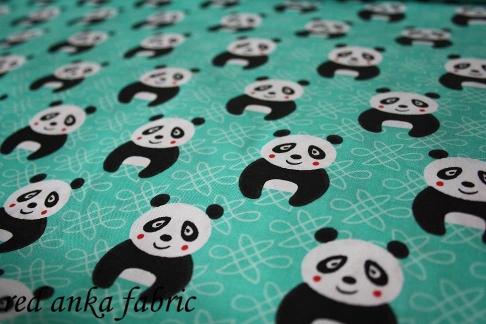 tkanina bawełna drukowana PANDA PANDY 4