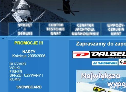 Domena narta.com.pl - sklep serwis wypożyczalnia