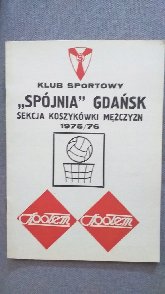 SPÓJNIA GDAŃSK KOSZYKÓWKA 1975/76