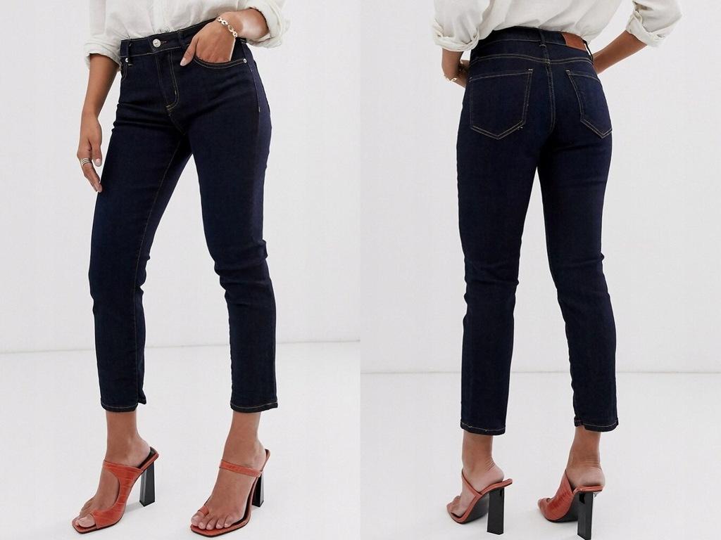 Mango - jeansy z krótkim wycięciem M