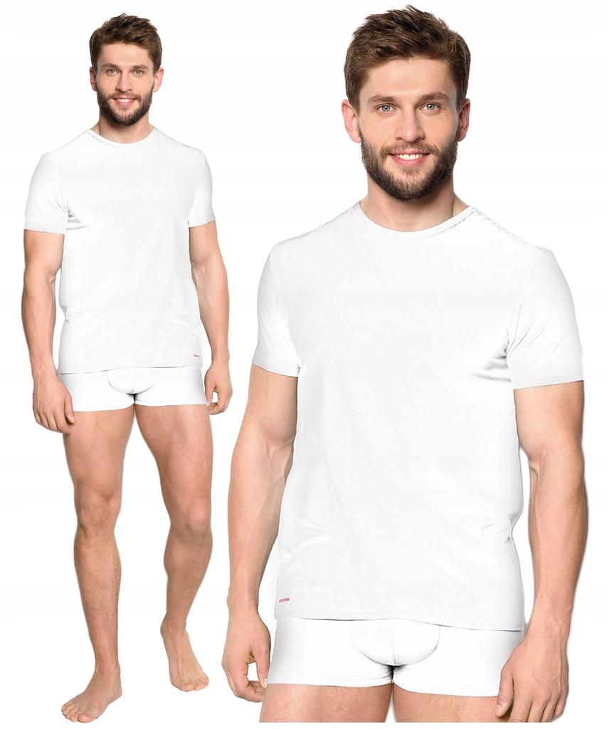 koszulka męska HENDERSON 18731 RED LINE biały L